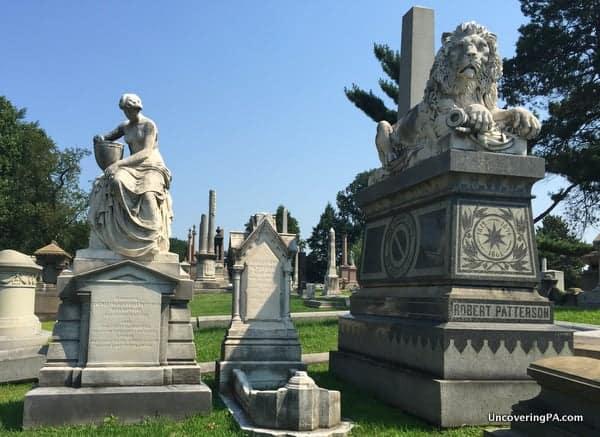 Monuments at Laurel Hill Cemetery Philadelphia Pennsylvania