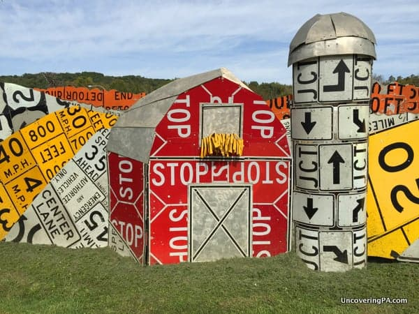 PennDot Road Sign Sculpture Garden Crawford County Pennsylvania
