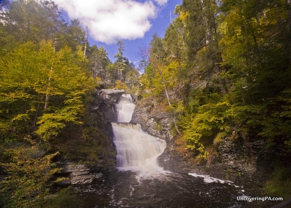 How to get to Raymondskill Falls Delaware Water Gap