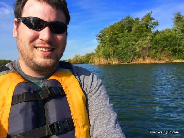 Jim Cheney Kayaking on Lake Erie in Pennsylvania