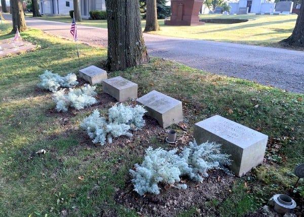 Barney Dreyfuss' grave, Baseball Hall of Famer, near Pittsburgh, Pennsylvania