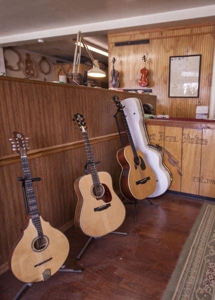 Retail space at Bluett Bros. Violins in York, Pennsylvania.