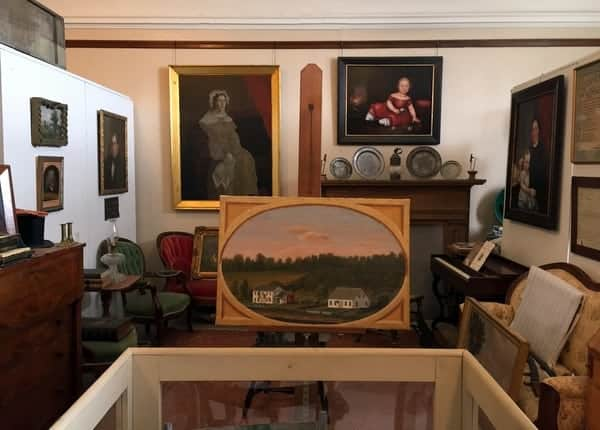 Paintings at Susquehanna County Historical Society Museum in Montrose, PA