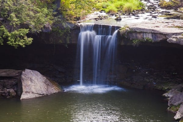 Big Run Falls is just one waterfalls in this itinerary of waterfalls in northwestern Pennsylvania