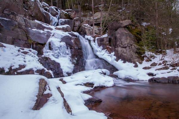Buttermilk Falls Lehigh Gorge State Park in the Pocono Mountains of Pennsylvania