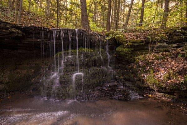 Bear Run Waterfalls, Colton Point State Park near Wellsboro, Pennsylvania