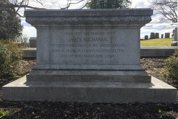 President James Buchanan's grave in Lancaster, Pennsylvania