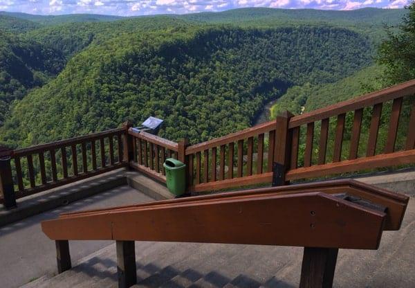 Viewing area Leonard Harrison State Park near Wellsboro, Pennsylvania