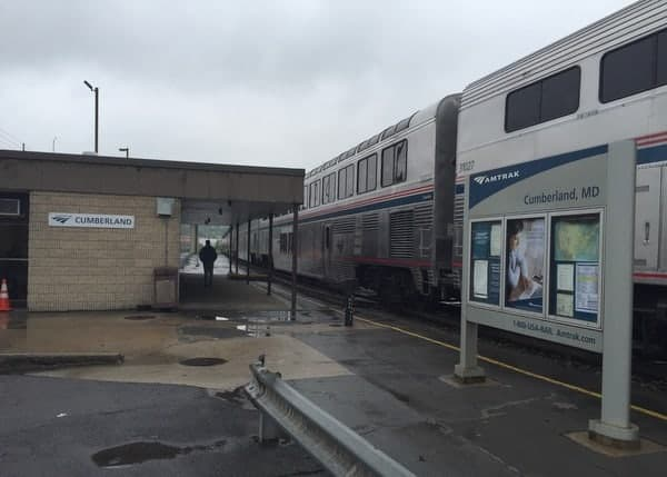 Amtrak Capitol Limited Train in Cumberland MD