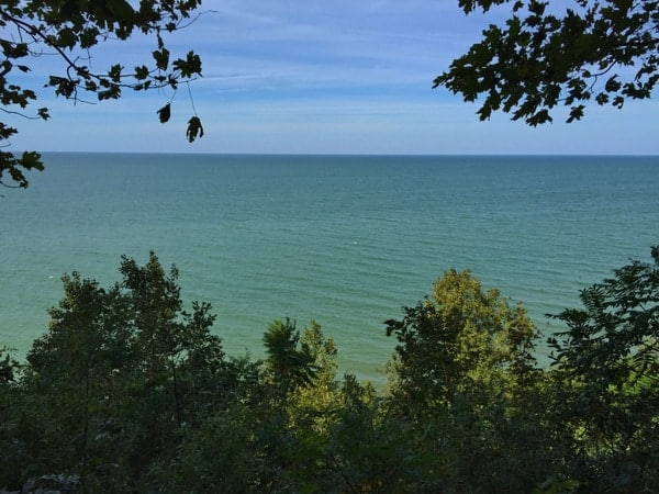 Lake Erie from Erie Bluffs State Park.