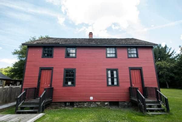 Historic homes in Eckley Miners' Village near Hazelton, Pennsylvania
