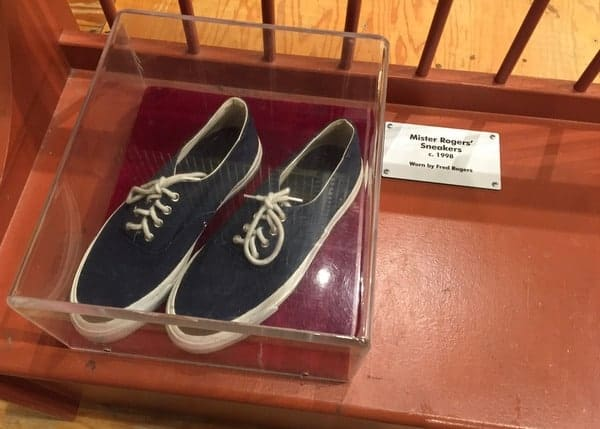 Mr Rogers' shoes at the Children's Museum of Pittsburgh