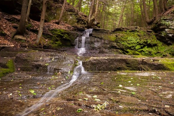 Best state parks in Pennsylvania for waterfalls: Prompton State Park.