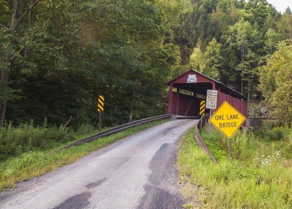 Visiting Sam Eckman Covered Bridge in Columbia County, Pennsylvania