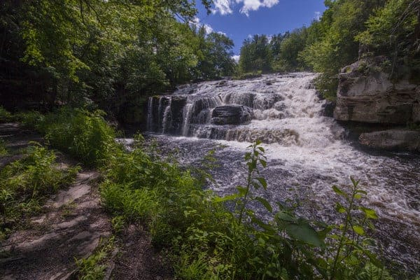 Shohola Falls along Route 6 in Pike County, Pennsylvania