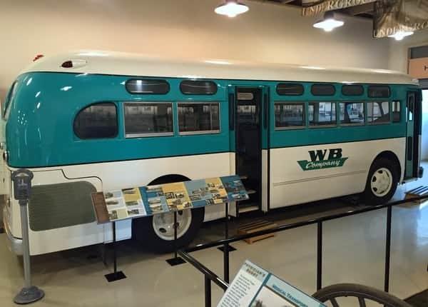 Bus at the Peter Herdic Transportation Museum.
