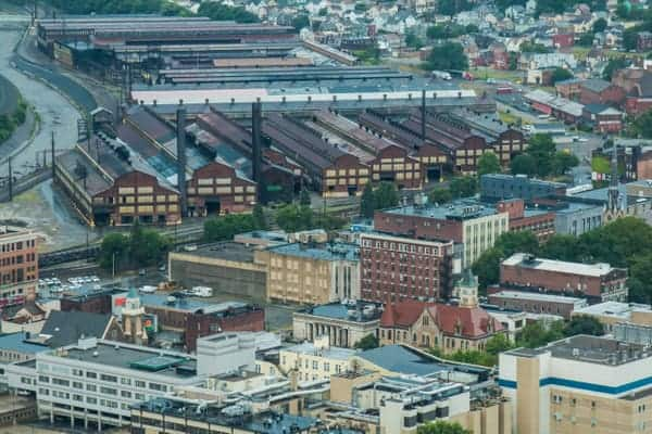 Steel Mill in downtown Johnstown, Pennsylvania