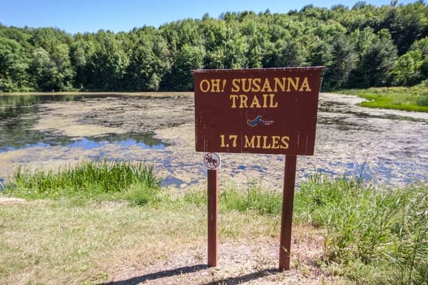 The Oh! Susanna Trail at Mount Pisgah State Park in Bradford County, Pennsylvania.