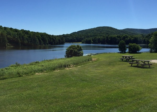 Stephen Foster Lake at Mount Pisgah State Park in Troy, Pennsylvania