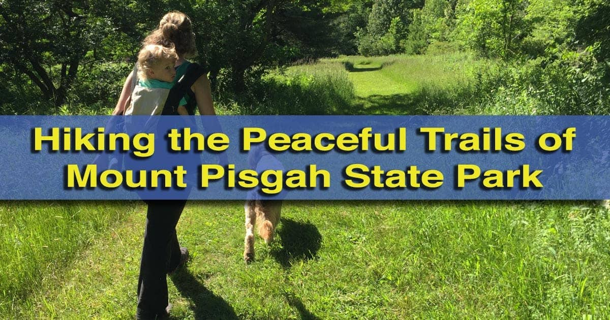 Hiking in Mount Pisgah State Park in Bradford County, Pennsylvania