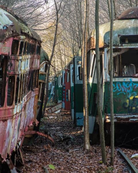 Visiting the Abandoned Trolley Graveyard near Johnstown, Pennsylvania