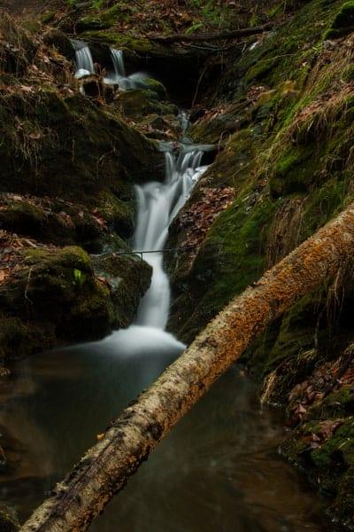 Upper Duncan Run Waterfall in York County, Pennsylvania.