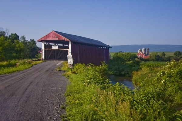 Hayes Covered Bridge in Union County, Pennsylvania