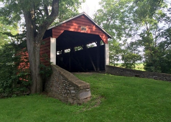 How to get to Hubler Covered Bridge near the Lewisburg Penitentiary in Pennsylvania