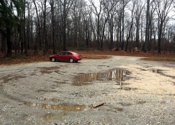 The parking area for Duncan Run and State Game Lands 181.