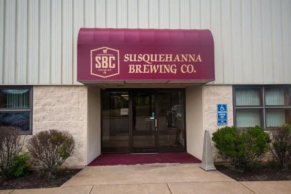 Tasting room at Susquehanna Brewing Company in Pittston, Pennsylvania