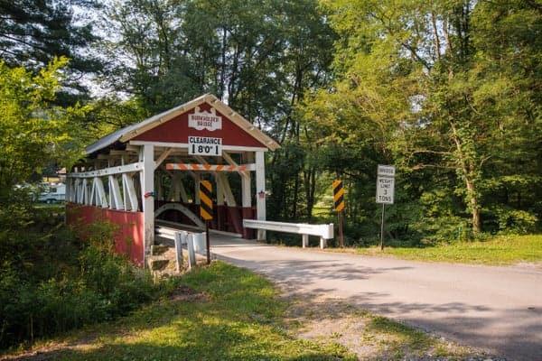 Burkholder Covered Bridge in Somerset County, Pennsylvania