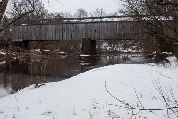 Where is Schofield Ford Covered Bridge in Tyler State Park, Pennsylvania.