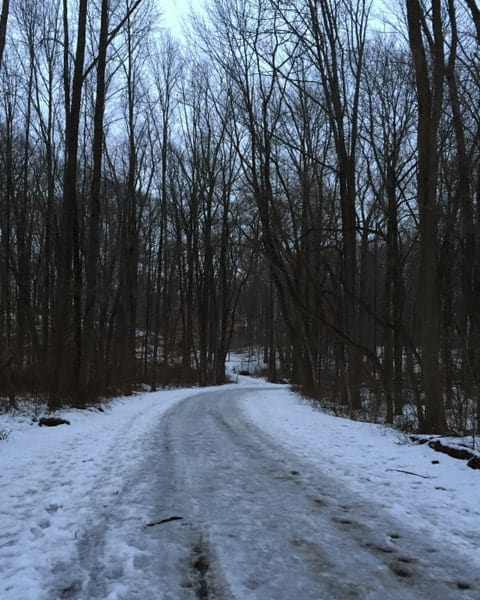 Trail to Schofield Ford Covered Bridge in Bucks County, Pennsylvania