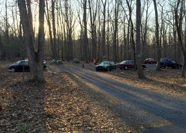 Where to park for the White Rocks Trail in Boiling Springs, Pennsylvania