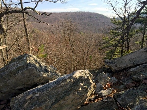 View from White Rocks on the Appalachian Trail in Boiling Springs, PA