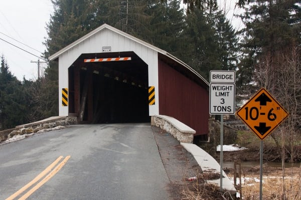 How to get to Forry's Mill Covered Bridge in Lancaster County, Pennsylvania