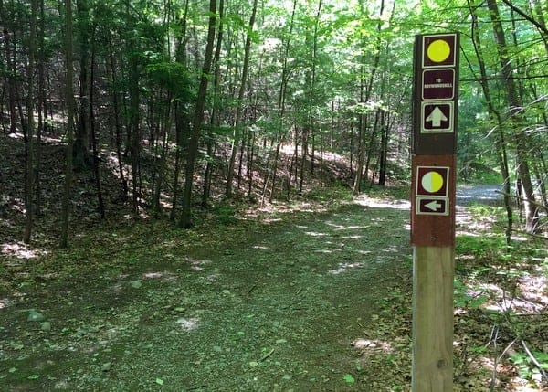 Hiking in Cliff Park in the Delaware Water Gap National Recreation Area