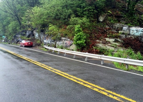 Parking for Falling Springs Falls in Luzerne County, Pennsylvania