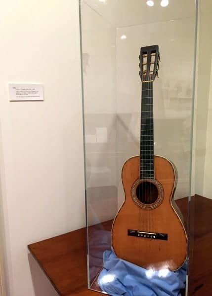 Martin guitar at the Moravian Historical Society Museum in Northampton County, Pennsylvania