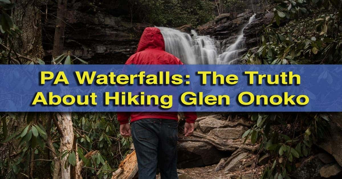 Hiking Glen Onoko in Jim Thorpe, Pennsylvania