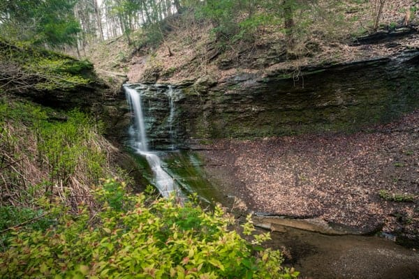How to get to Fall Run Falls in Shaler, Pennsylvania