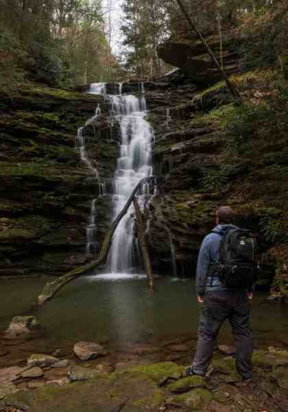 How to get to Yoder Falls near Johnstown, Pennsylvania