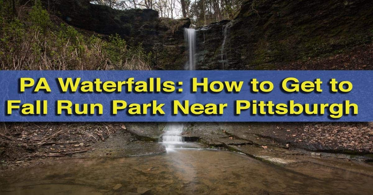 Waterfalls near Pittsburgh: Fall Run Falls in Shaler, PA
