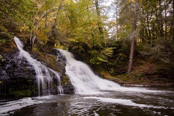 Hornbecks Creek Waterfall in the Delaware Water Gap