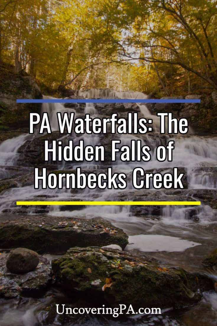 Pennsylvania Waterfalls: How to get to the Hornbecks Creek Waterfalls in the Delaware Water Gap