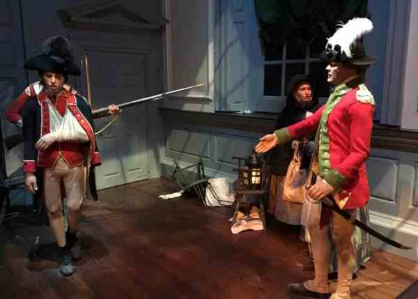 Exhibits at the Museum of the American Revolution in Philadelphia, PA