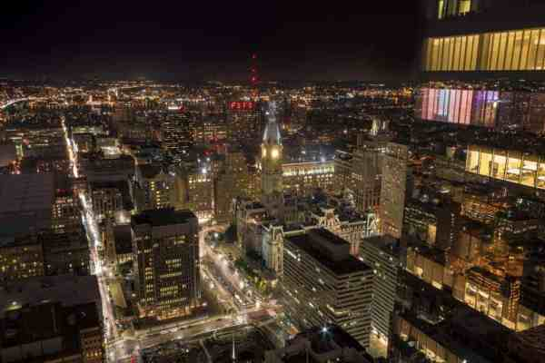 Best places to photography Philly after dark: Sky Garten