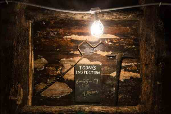 Inside the Pioneer Tunnel Coal Mine in Ashland, Pennsylvania
