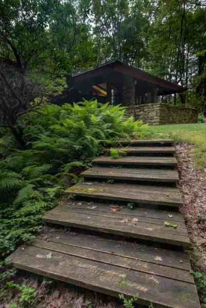 The Balter House at Polymath Park in the Laurel Highlands of Pennsylvania.