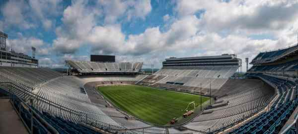 Inside Beaver Stadium in State College, Pennsylvania